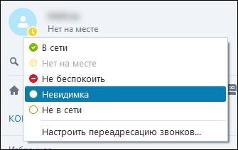 Статус в Skype