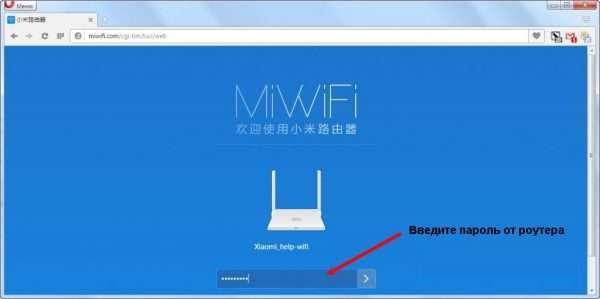 Вход в настройки Xiaomi Mi Mini по паролю