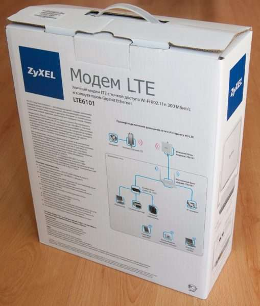 Упакованный комплект ZyXEL LTE6101