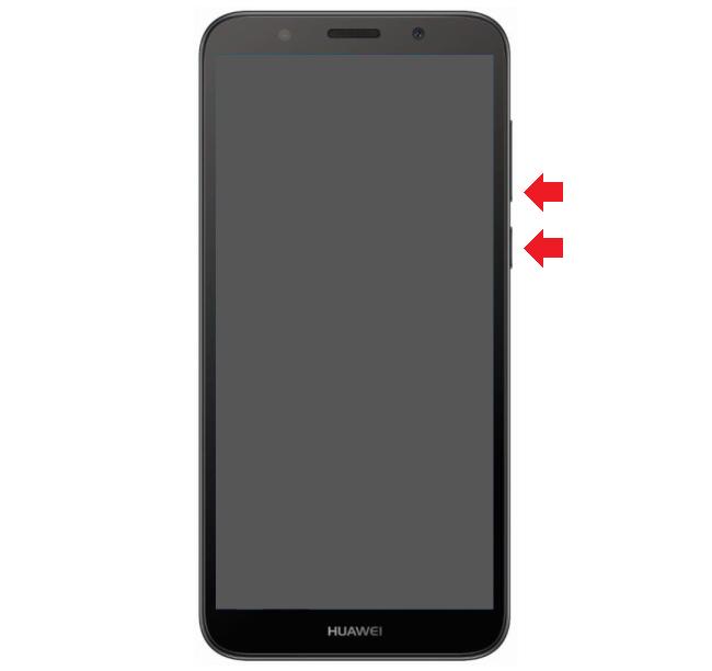 Как сделать скриншот экрана на смартфоне Huawei?
