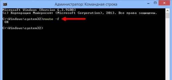 Очистка перечня статичных маршрутов Windows 10