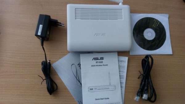 Комлектация маршрутизатора Asus RT-G32