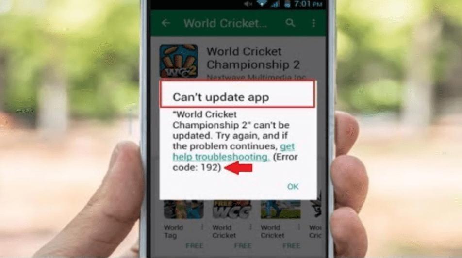 Код ошибки 192 Google Play Market