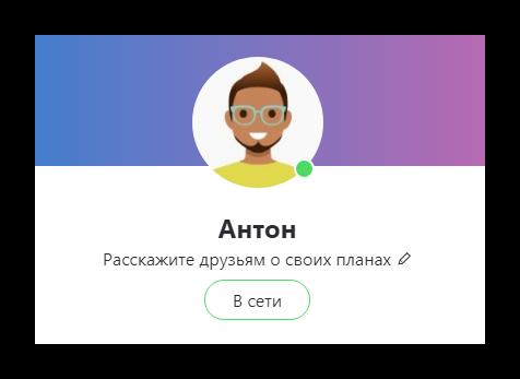 Векторная иконка на аватарке Skype