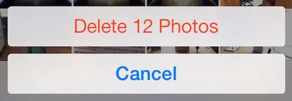 Удалить фото Айфон