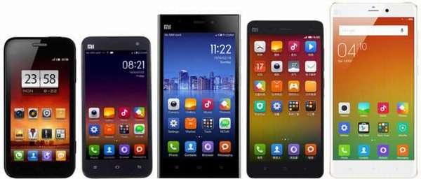 модельный ряд смартфонов сяоми