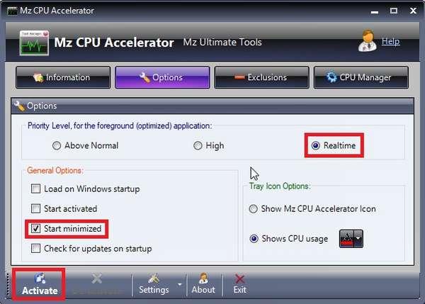 Оптимизация работы компьютера через программу Mz CPU Accelerator