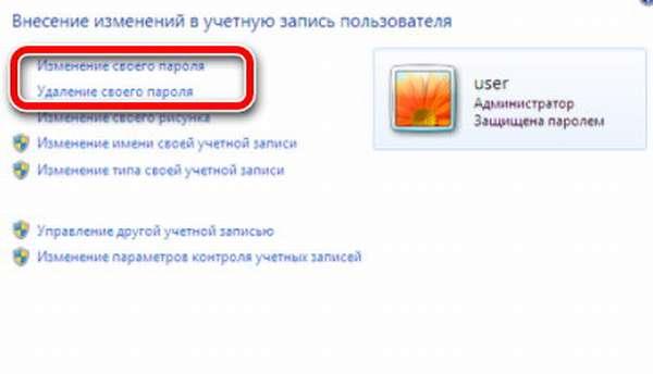 своего пароля windows 7