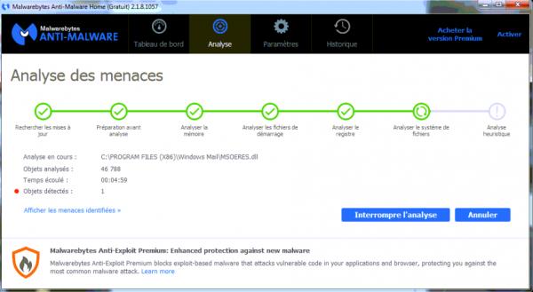 Интерфейс программы Malwarebytes Anti-Malware