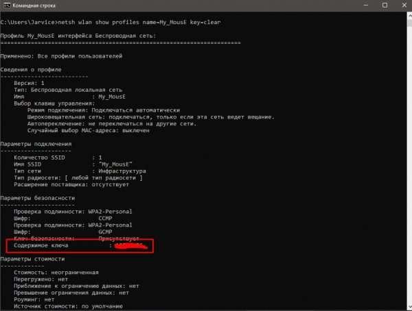 Как получить пароль к сети через «Командную строку»