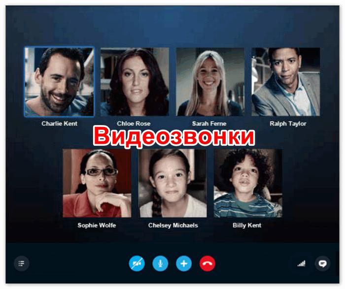 Видеозвонки в Skype