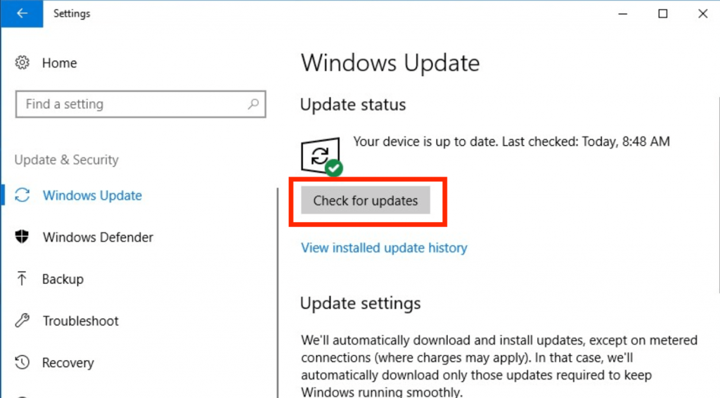 Самостоятельная проверка обновлений Windows