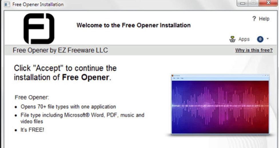 Установка программы Free Opener
