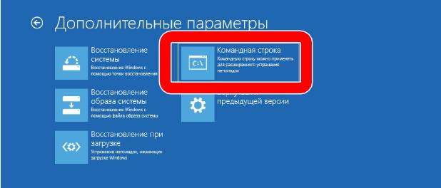 дополнительные параметры командная строка windows 10