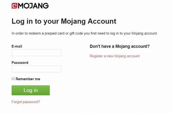 Как войти в аккаунт Майнкрафт