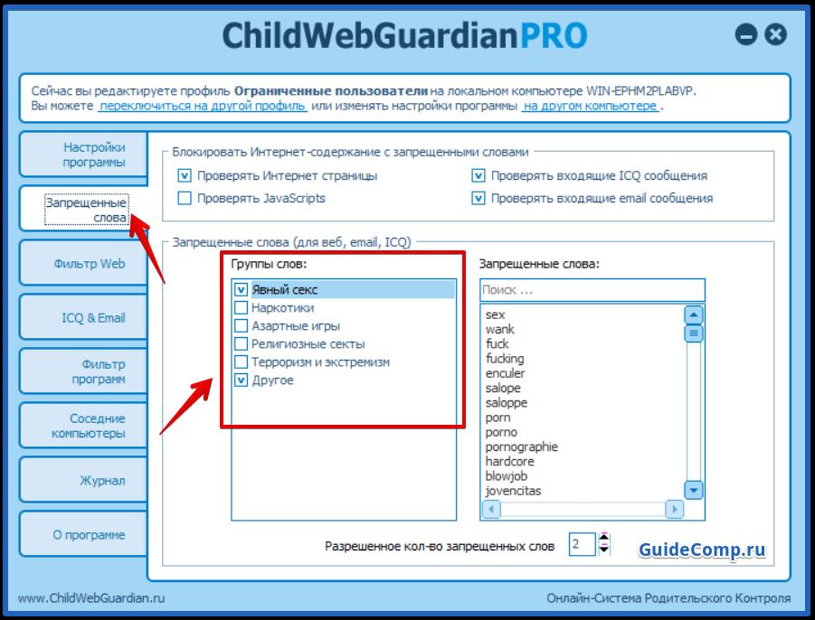 как поставить родительский контроль в yandex browser с помощью ChildWebGuardian