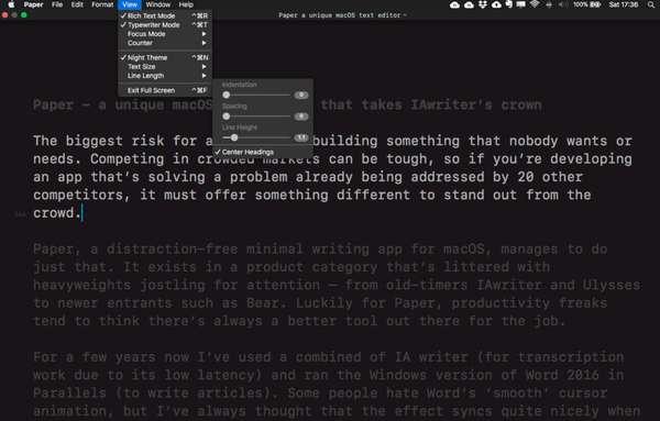 Текстовый редактор iA Writer
