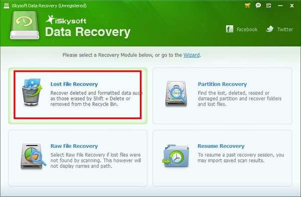 Жмём кнопку Lost File Recovery