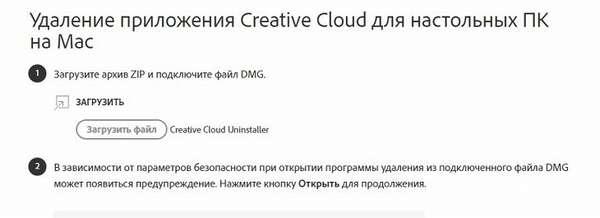 Удаление Adobe Creative Cloud с Макос