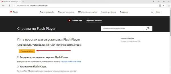 Проверка версии Adobe Flash Player
