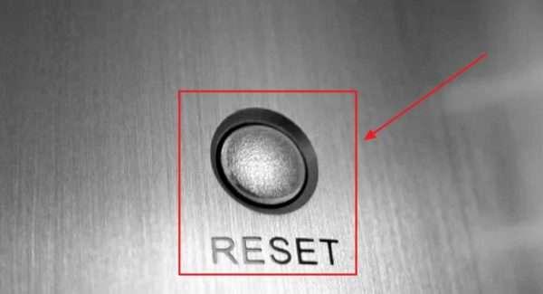 Клавиша Reset