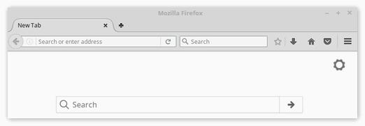 Интерфейс программы FireFox для Linux Mint