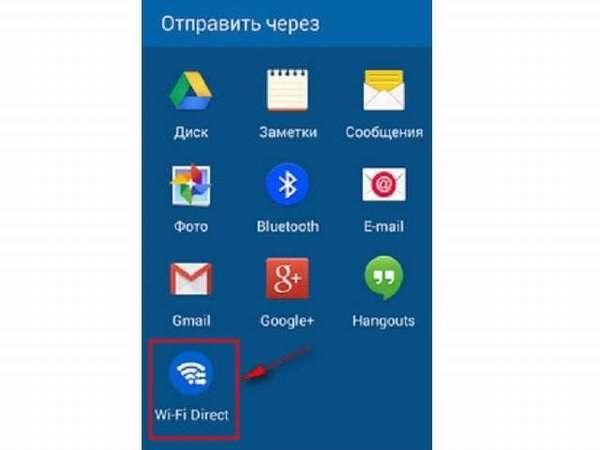 передача файлов через Wi-Fi Direct