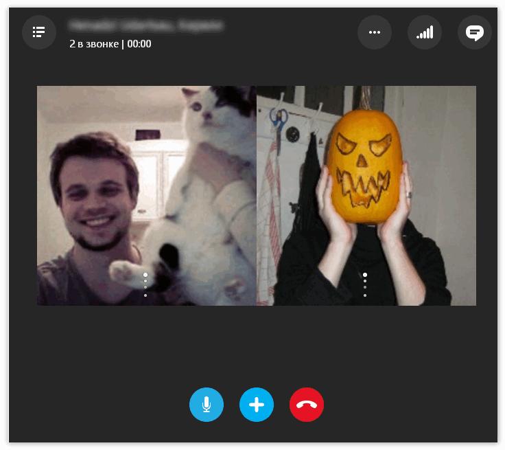 Аудиоконференция в Skype