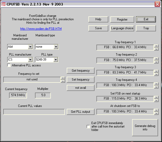 Как разогнать процессор с помощью cpufsb