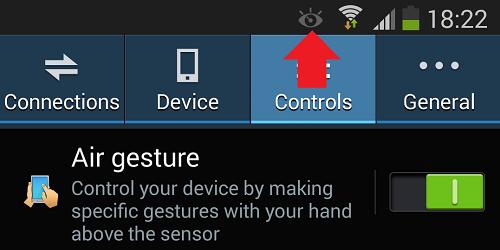 Что означает значок глаза на телефоне Самсунг?