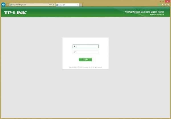 Веб-панель TP-LINK