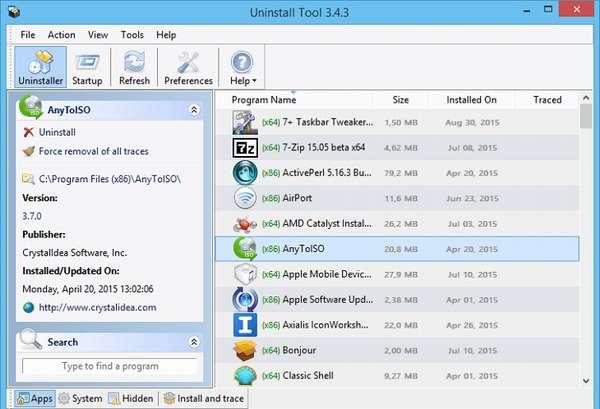 Как удалить программу через Uninstall Tool