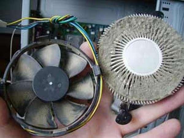 нормальная температура процессора - чистим пыль