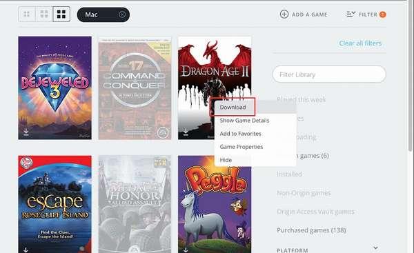 Загрузка игры EA Games