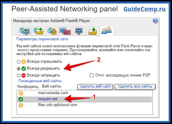 nastroyka флеш проигрывателя в yandex browser