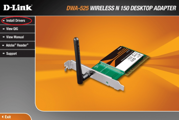 Программа установки драйвера D-Link DWA-525