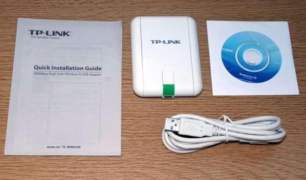 Содержимое коробки TP-Link TL-WN822N