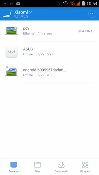 Вход в MiWiFi с Android-смартфона