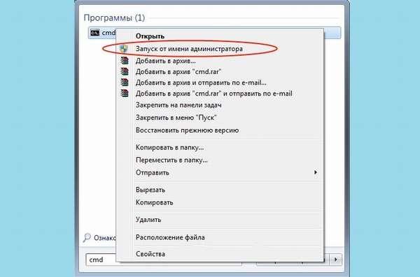Запуск командной строки от имени администратора