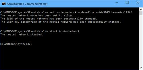 Раздача сети с адаптера TL-WN727N с помощью CMD.exe