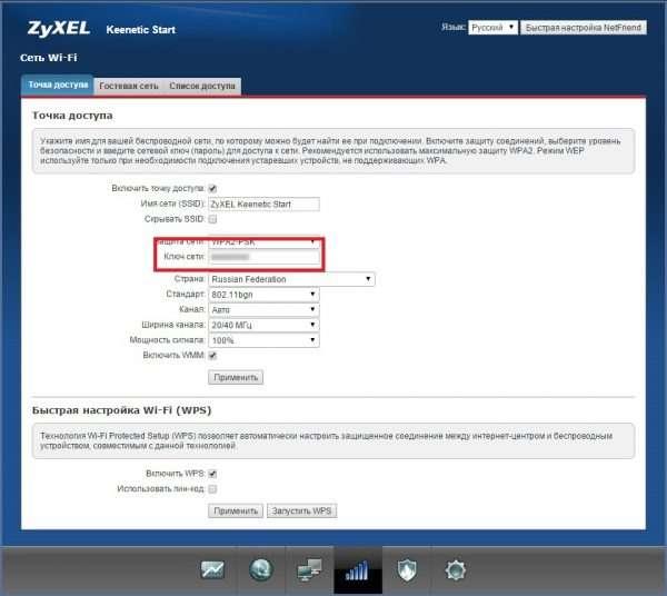 Вкладка «Точка доступа» маршрутизаторов ZyXEL