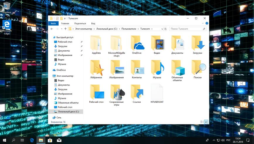 Просмотр скрытых файлов и папок Windows 10