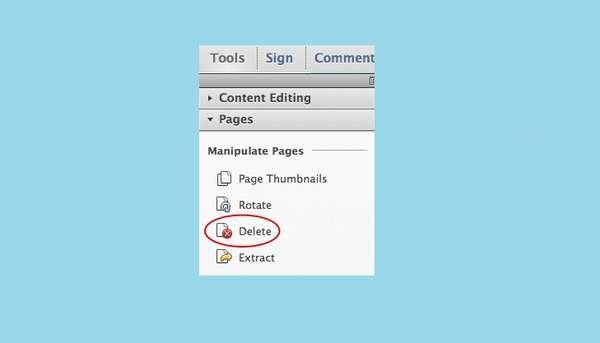 Удаление страниц Adobe Reader