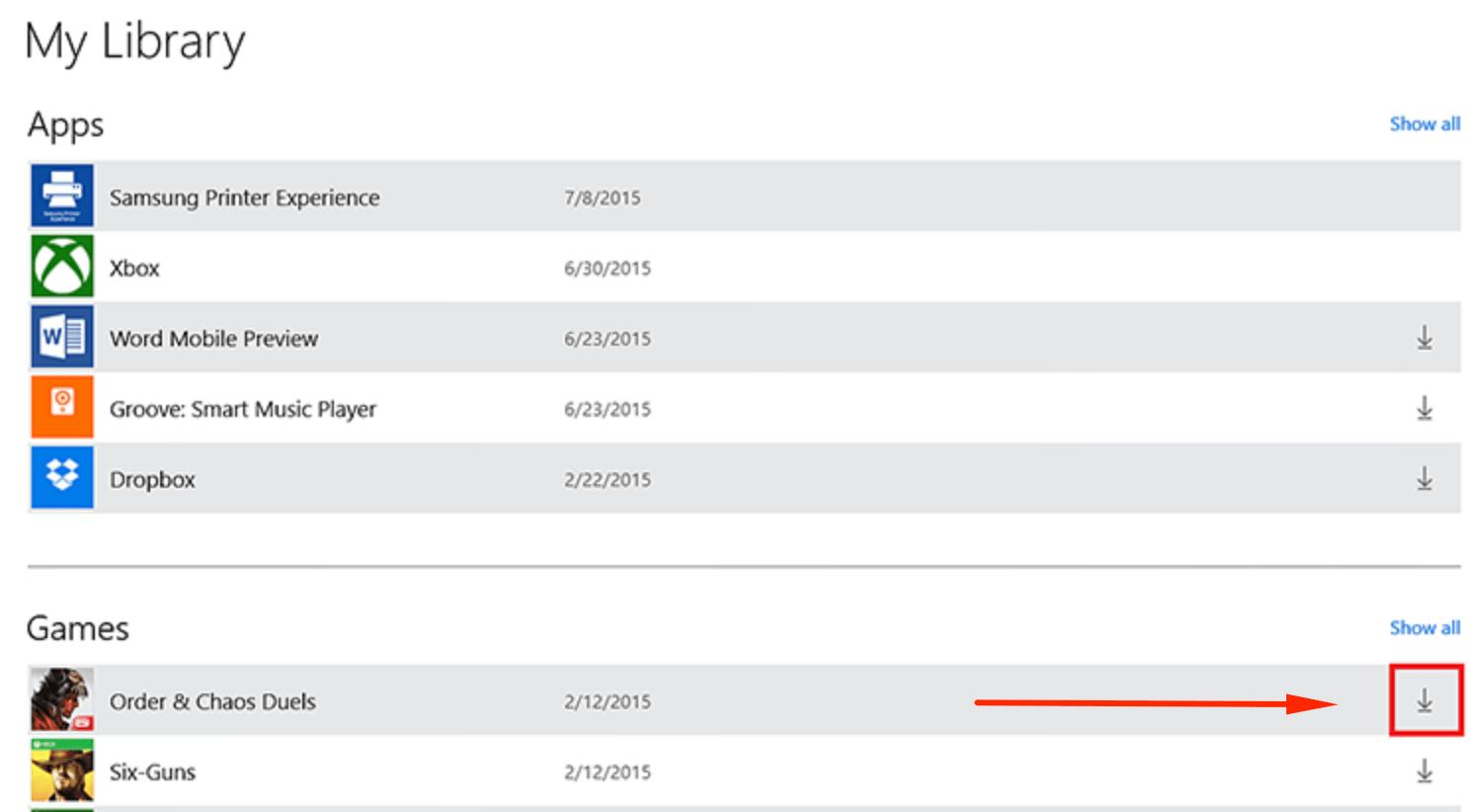 Повторная загрузка приложения в Microsoft Store