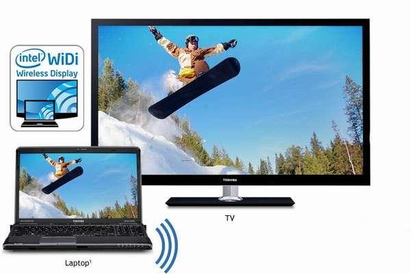 подключения ноутбука к телевизору через Wi-Fi