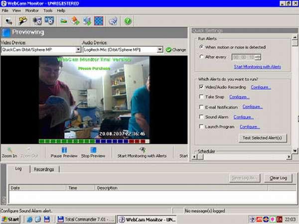 Программа WebCam Monitor
