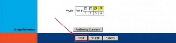 Сохранение параметров настройки модема